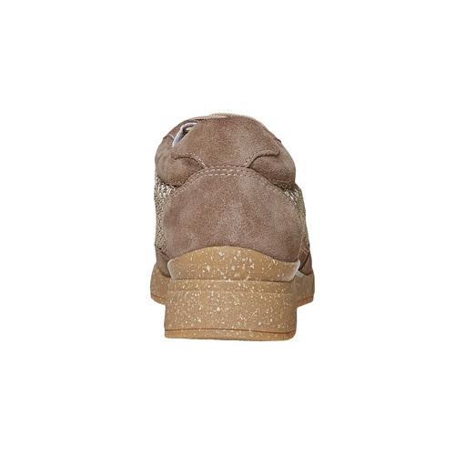 Sneakers da donna in pelle flexible, beige, 529-8587 - 17
