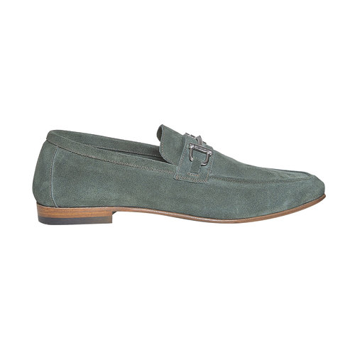 Mocassini in pelle con fibbia bata-the-shoemaker, verde, 853-7269 - 15