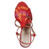 Sandali in pelle da donna con frange bata, rosso, 763-5583 - 19