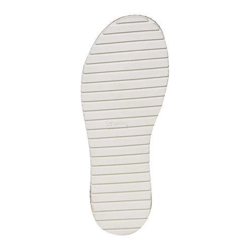 Sandali da ragazza con strass mini-b, rosso, 361-5196 - 26