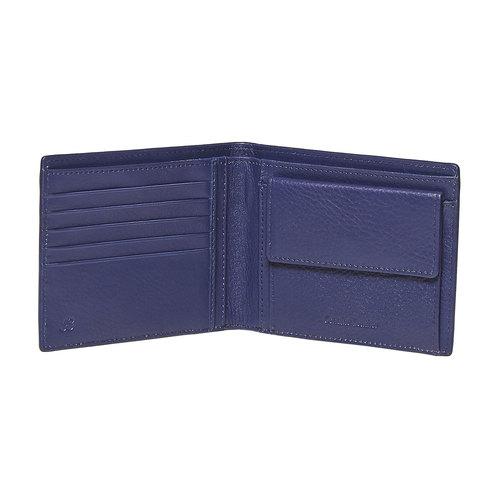 Portafoglio da uomo con dettaglio a contrasto bata, viola, 944-9151 - 17