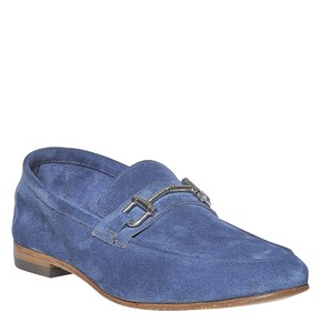 Mocassini da uomo con fibbia in metallo bata-the-shoemaker, viola, 853-9269 - 13