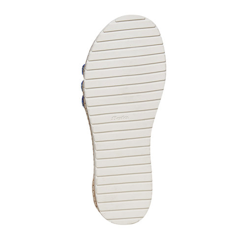 Sandali blu da ragazza con strass mini-b, blu, 361-9196 - 26