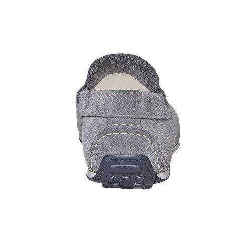 Sandali in pelle con cuciture appariscenti bata, grigio, 853-2272 - 17
