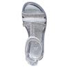 Sandali bianchi da ragazza con strass mini-b, bianco, 361-1217 - 19