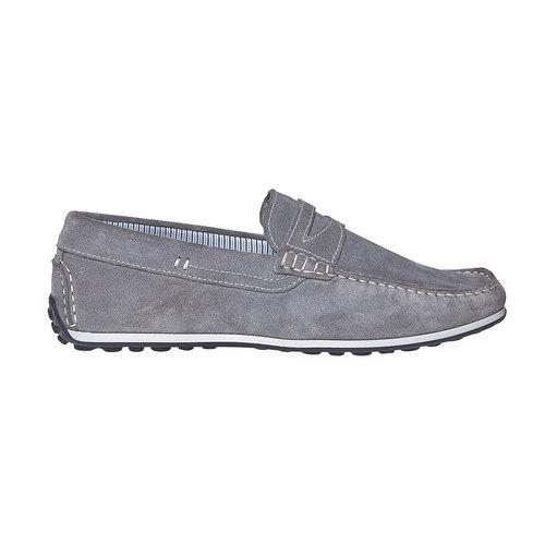 Sandali in pelle con cuciture appariscenti bata, grigio, 853-2272 - 15