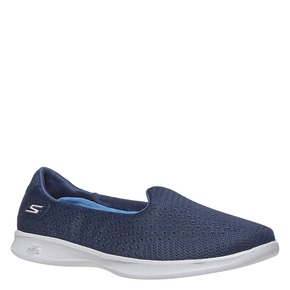 Slip-on da donna con trafori skechers, bianco, 509-1966 - 13