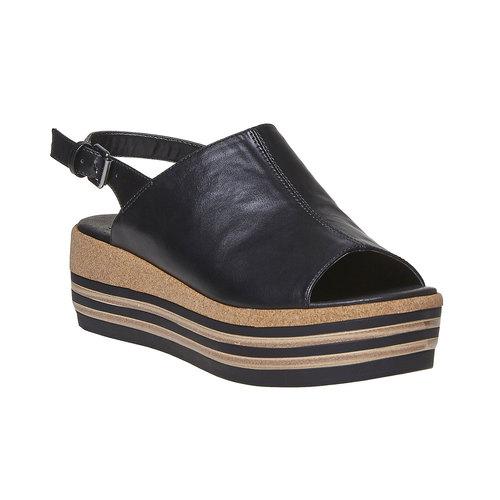 Sandali neri da donna bata, nero, 661-6241 - 13