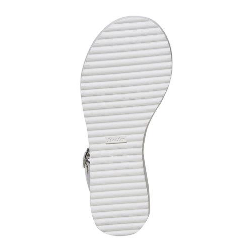 Sandali da ragazza con suola appariscente mini-b, bianco, 361-1194 - 26