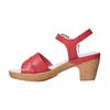 Sandali in pelle da donna con tacco bata-touch-me, rosso, 664-5231 - 26