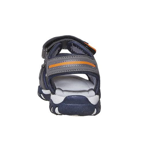 Sandali da bambino con chiusura a velcro mini-b, grigio, 261-2193 - 17