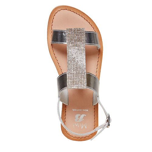 Sandali in pelle con strass mini-b, 364-2208 - 19