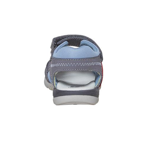 Sandali in pelle da bambino mini-b, grigio, 264-2184 - 17