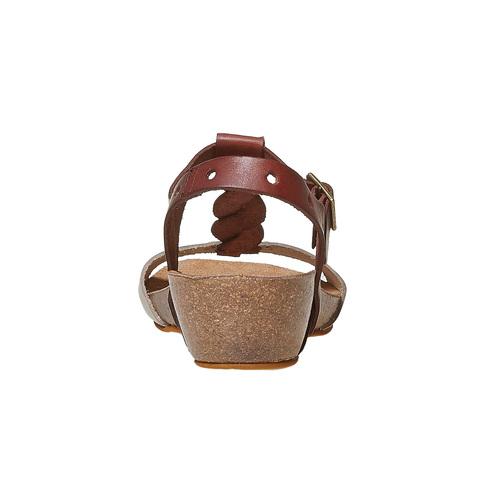 Sandali da donna in pelle weinbrenner, marrone, 564-4455 - 17