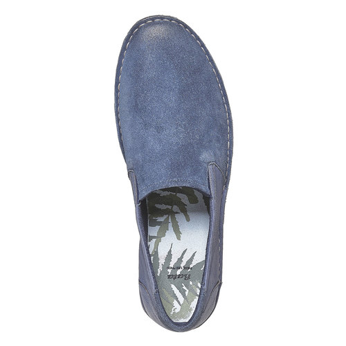 Scarpe da uomo in stile Slip-on bata, blu, 853-9241 - 19