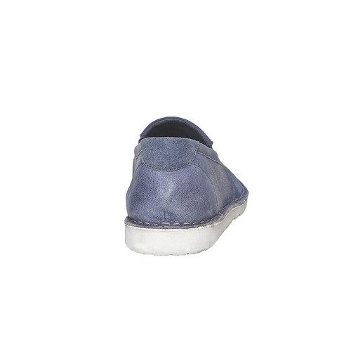 Scarpe da uomo in stile Slip-on bata, blu, 853-9241 - 17
