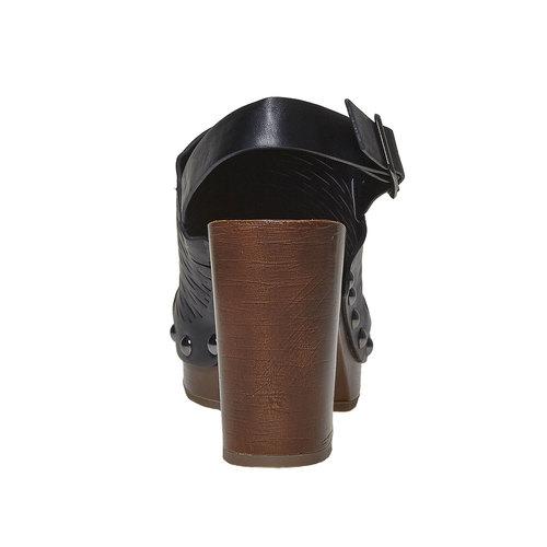 Sandali con tacco stabile bata, nero, 761-6599 - 17