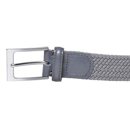 Cintura da uomo in tessuto bata, grigio, 959-2217 - 26