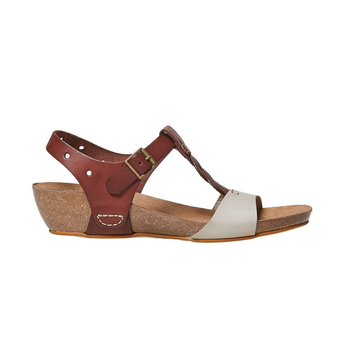 Sandali da donna in pelle weinbrenner, marrone, 564-4455 - 15