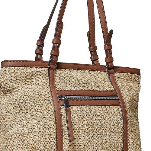 Borsetta in stile Shopper con tessuto a maglia bata, marrone, 969-8365 - 26