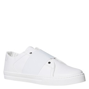 Sneakers bianche con borchie a punta north-star, bianco, 831-1137 - 13