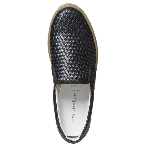 Slip-on da uomo north-star, nero, 851-6316 - 26