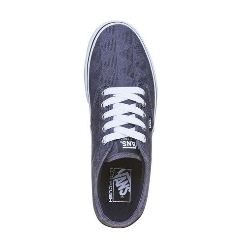 Sneakers da uomo con motivo vans, nero, 889-6199 - 19