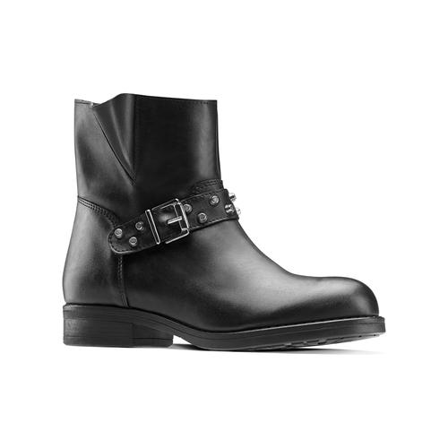 Ankle Boots da donna con borchie bata, nero, 591-6163 - 13