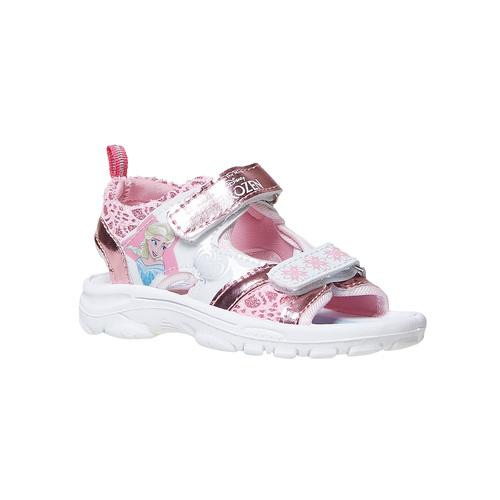 Sandali metallizzati da bambina con stampa, rosa, 261-5197 - 13