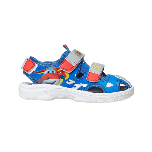 Sandali da bambino con stampa, blu, 261-9195 - 15