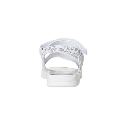Sandali argentati da bambina, bianco, 261-1196 - 17