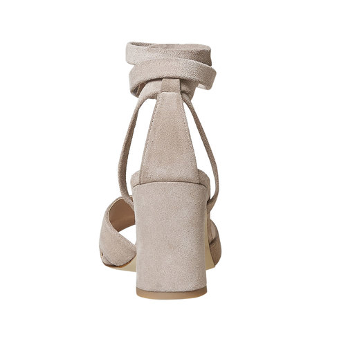 Sandali in pelle color crema bata, beige, 763-8676 - 17