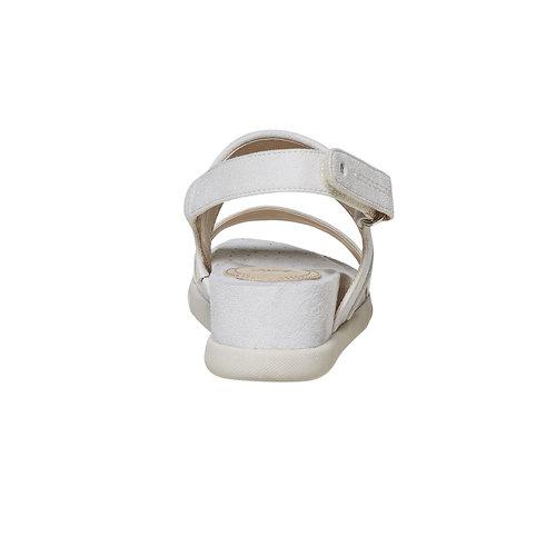 Sandali da donna con suola appariscente bata, beige, 569-8303 - 17