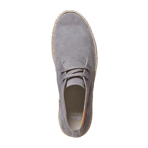 Scarpe stringate casual di pelle bata, neutro, 853-2321 - 19