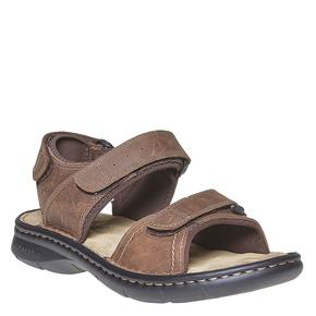Sandali marroni in pelle weinbrenner, marrone, 866-4269 - 13