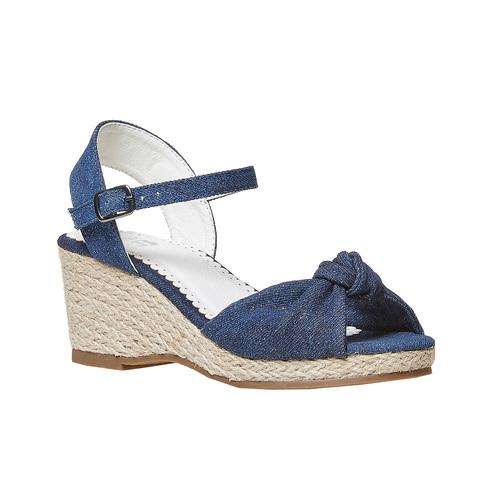 Sandali da bambina con plateau basso mini-b, blu, 369-9219 - 13