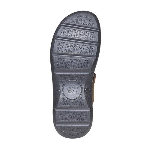 Sandali marroni in pelle weinbrenner, marrone, 866-4269 - 26