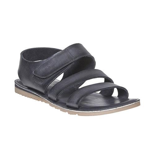 Sandali in pelle da uomo bata, nero, 864-6260 - 13