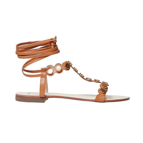 Sandali da donna con lacci, marrone, 561-3496 - 15