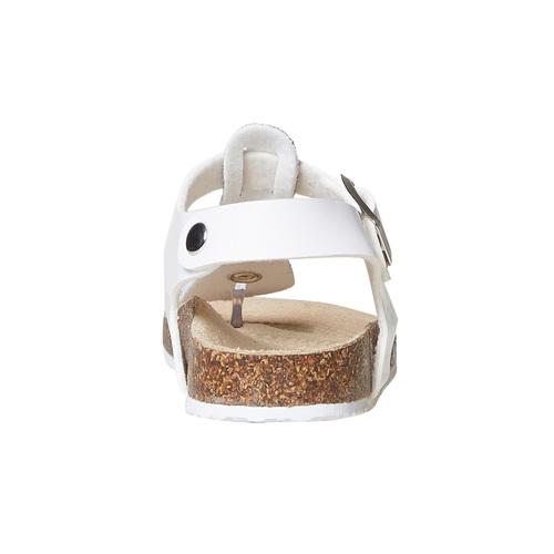 Sandali da bambina con glitter mini-b, bianco, 361-1231 - 17