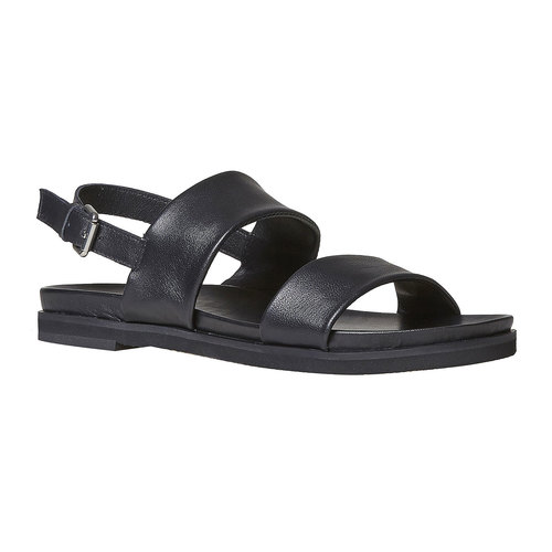 Sandali da donna in pelle bata, nero, 564-6446 - 13