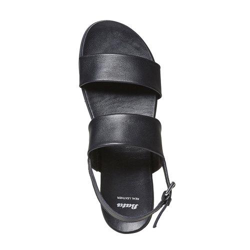 Sandali da donna in pelle bata, nero, 564-6446 - 19
