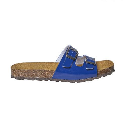 Slip-on blu verniciate bata, blu, 571-9356 - 15