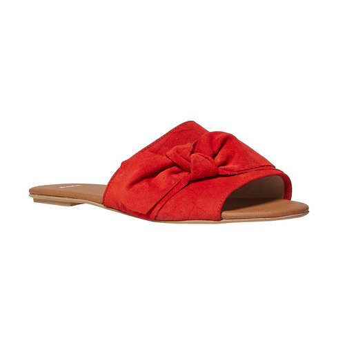 Slip-on in pelle da donna bata, rosso, 563-5411 - 13