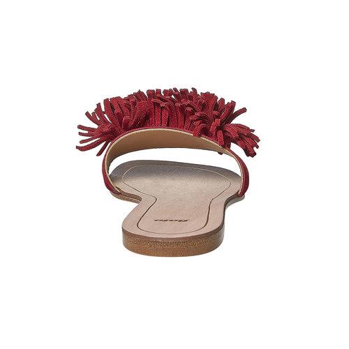 Slip-on rosse in pelle con frange bata, rosso, 573-5354 - 17