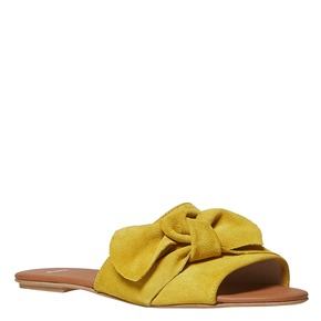 Slip-on in pelle da donna bata, giallo, 563-8411 - 13