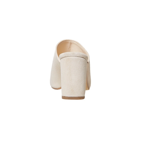 Slip-on in pelle da donna bata, beige, 763-8689 - 16