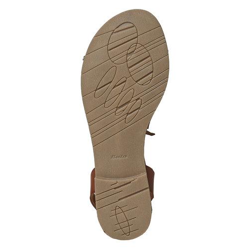 Sandali da donna con lacci bata, marrone, 561-4497 - 26
