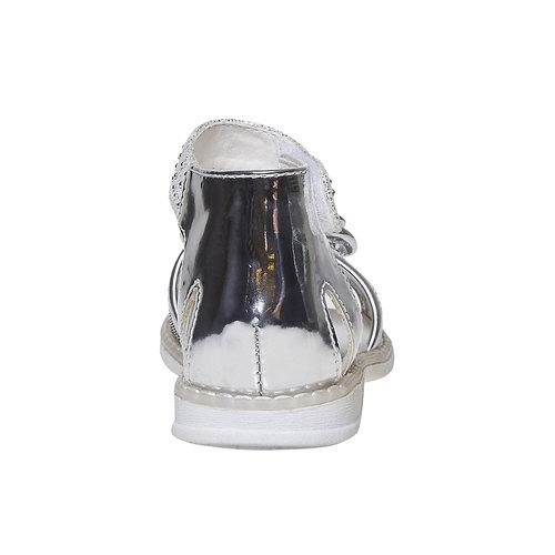 Sandali argentati da ragazza mini-b, grigio, 261-2177 - 17