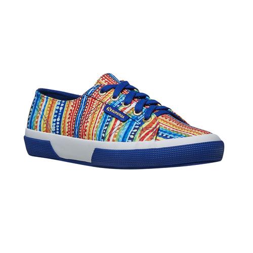 Sneakers con motivo colorato superga, blu, 589-9191 - 13